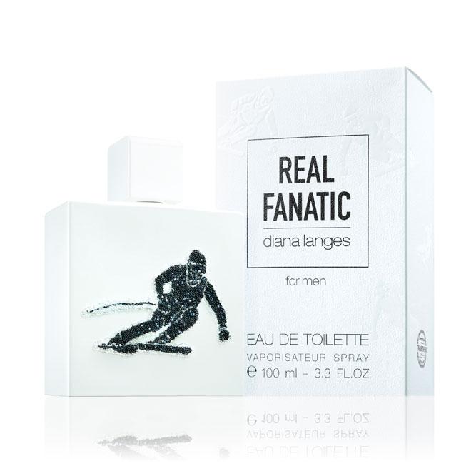 Produktfotografie von eau de toilette auf weißen Hintergrund. Packshot